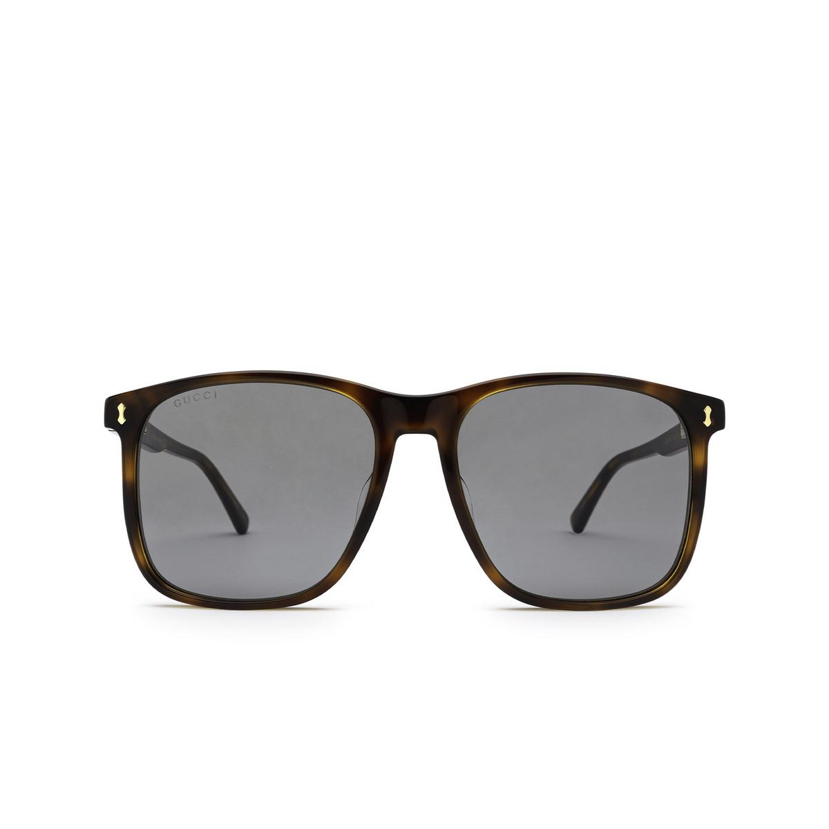 Gucci® Square Sunglasses: GG1041S color Havana 002 - front view.