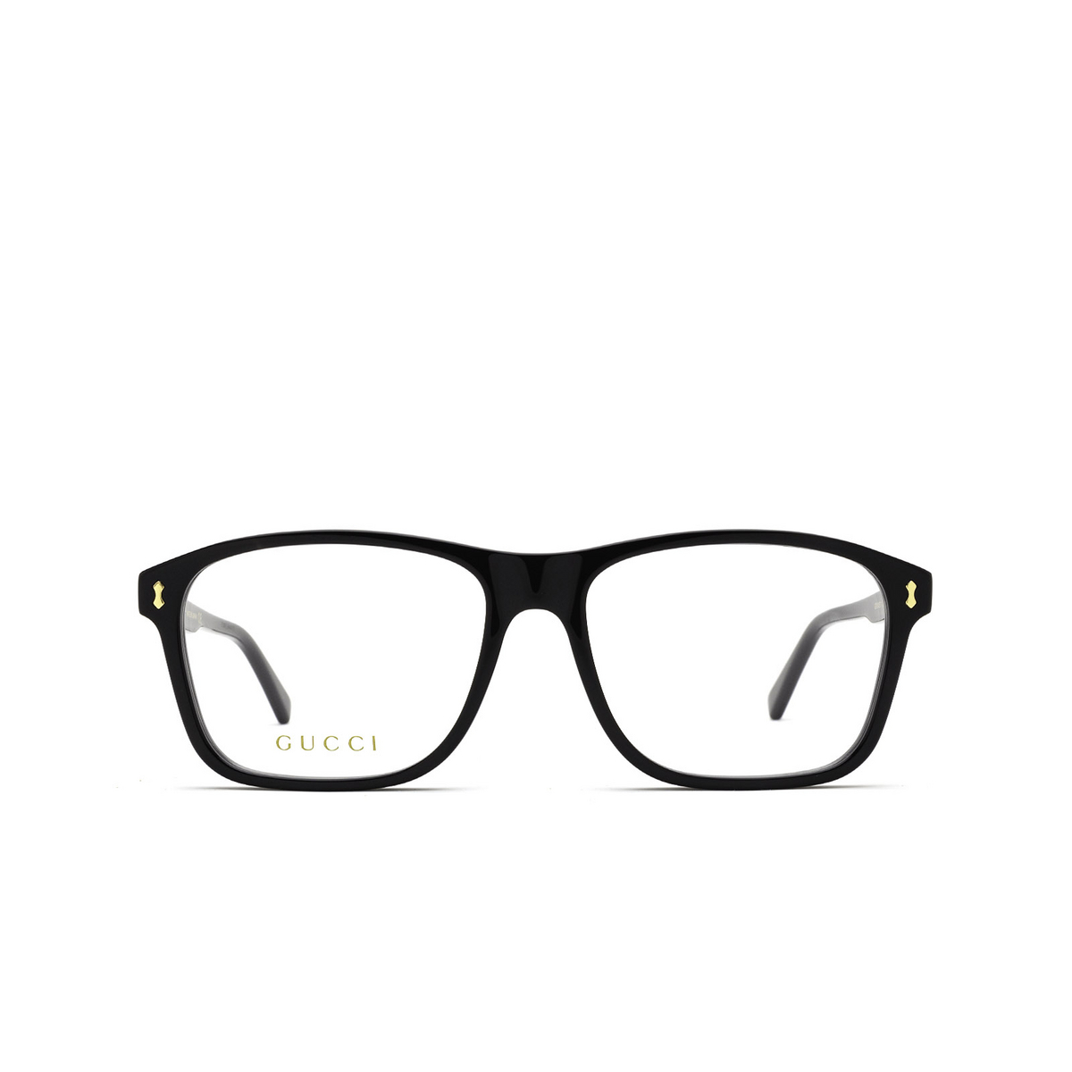 Gucci® Rectangle Eyeglasses: GG1045O color Black 001 - front view.