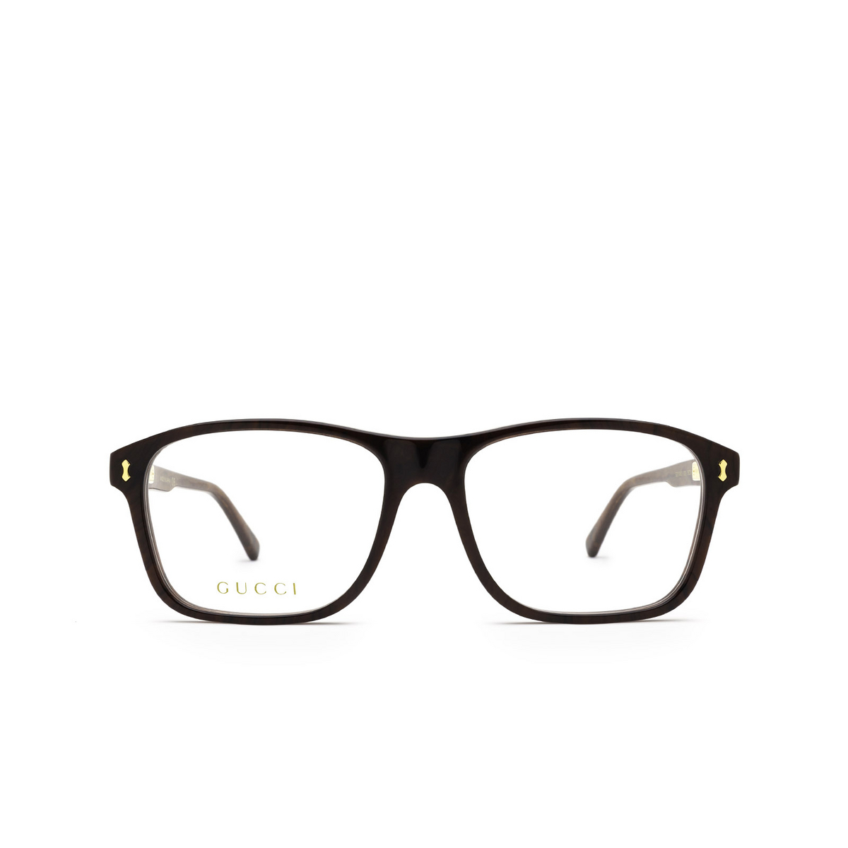 Gucci® Rectangle Eyeglasses: GG1045O color Brown 003 - front view.