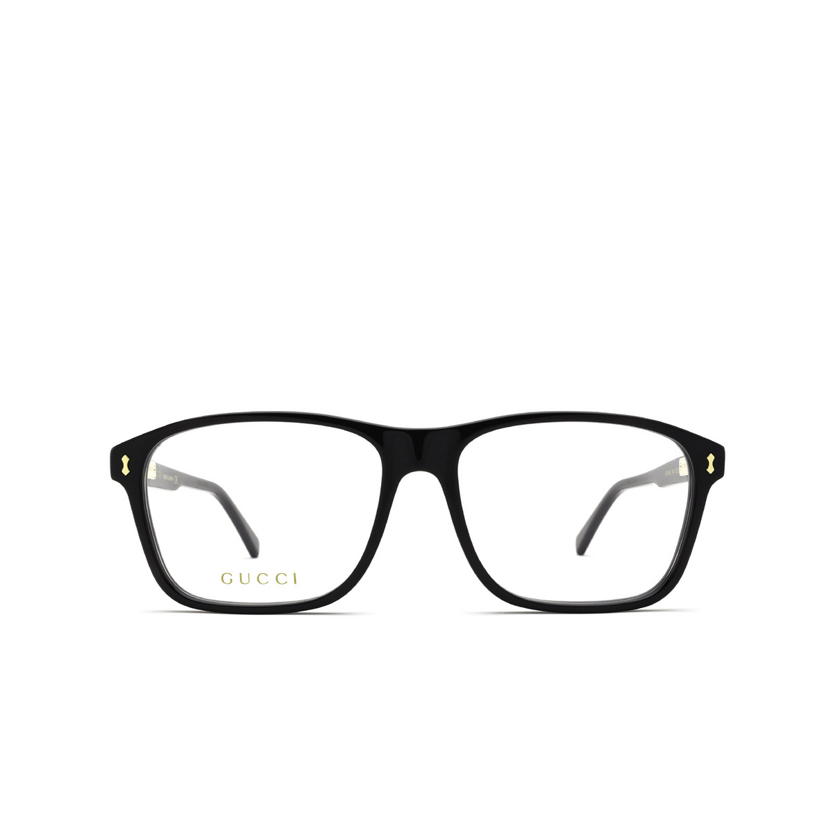 Gucci® Rectangle Eyeglasses: GG1045O color Black 004 - front view.