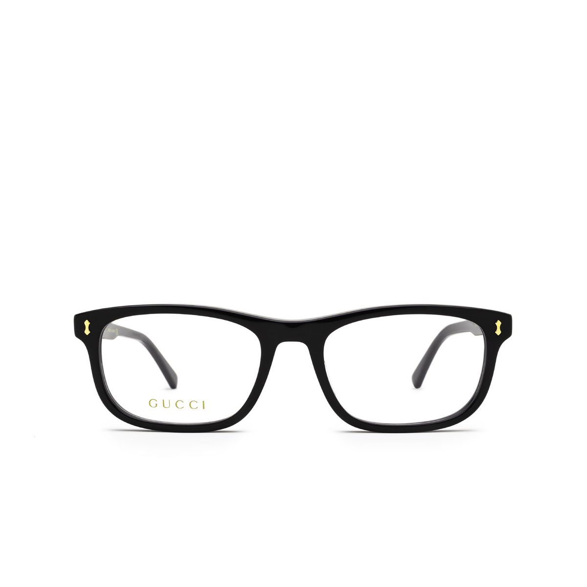 Gucci® Rectangle Eyeglasses: GG1046O color Black 001 - front view.