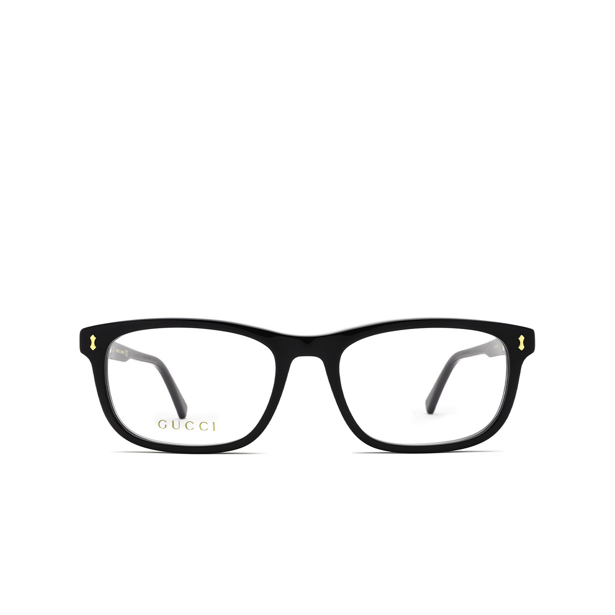 Gucci® Rectangle Eyeglasses: GG1046O color Black 004 - front view.