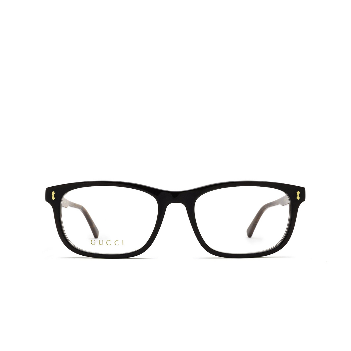 Gucci® Rectangle Eyeglasses: GG1046O color Brown 006 - front view.