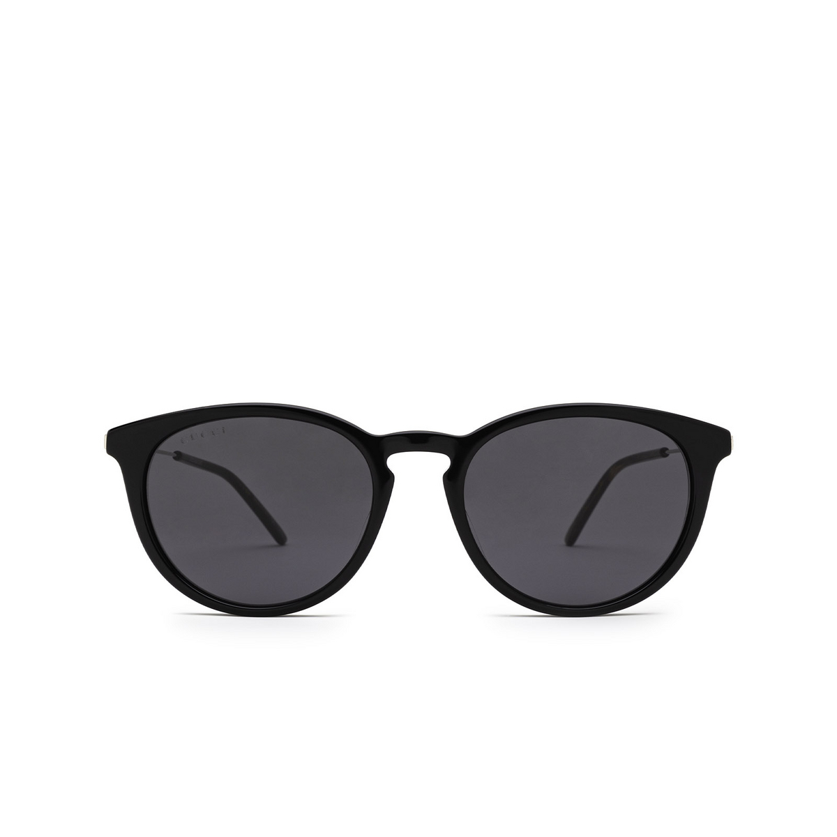 Gucci® Round Sunglasses: GG1048S color Black 001 - front view.