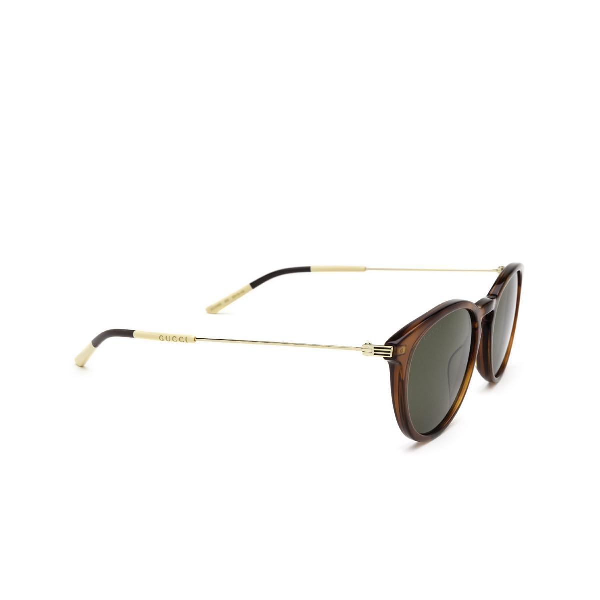Gucci® Round Sunglasses: GG1048S color Havana 002 - 2/3.