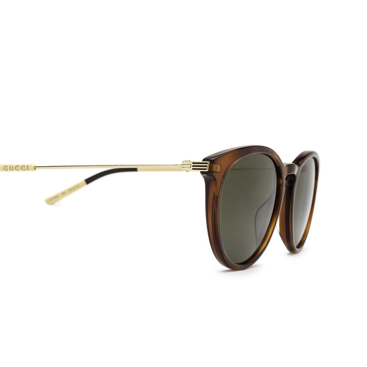Gucci® Round Sunglasses: GG1048S color Havana 002 - 3/3.