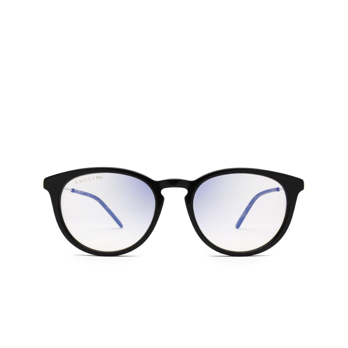 Gucci® Round Sunglasses: GG1048S color Black 005 - front view.