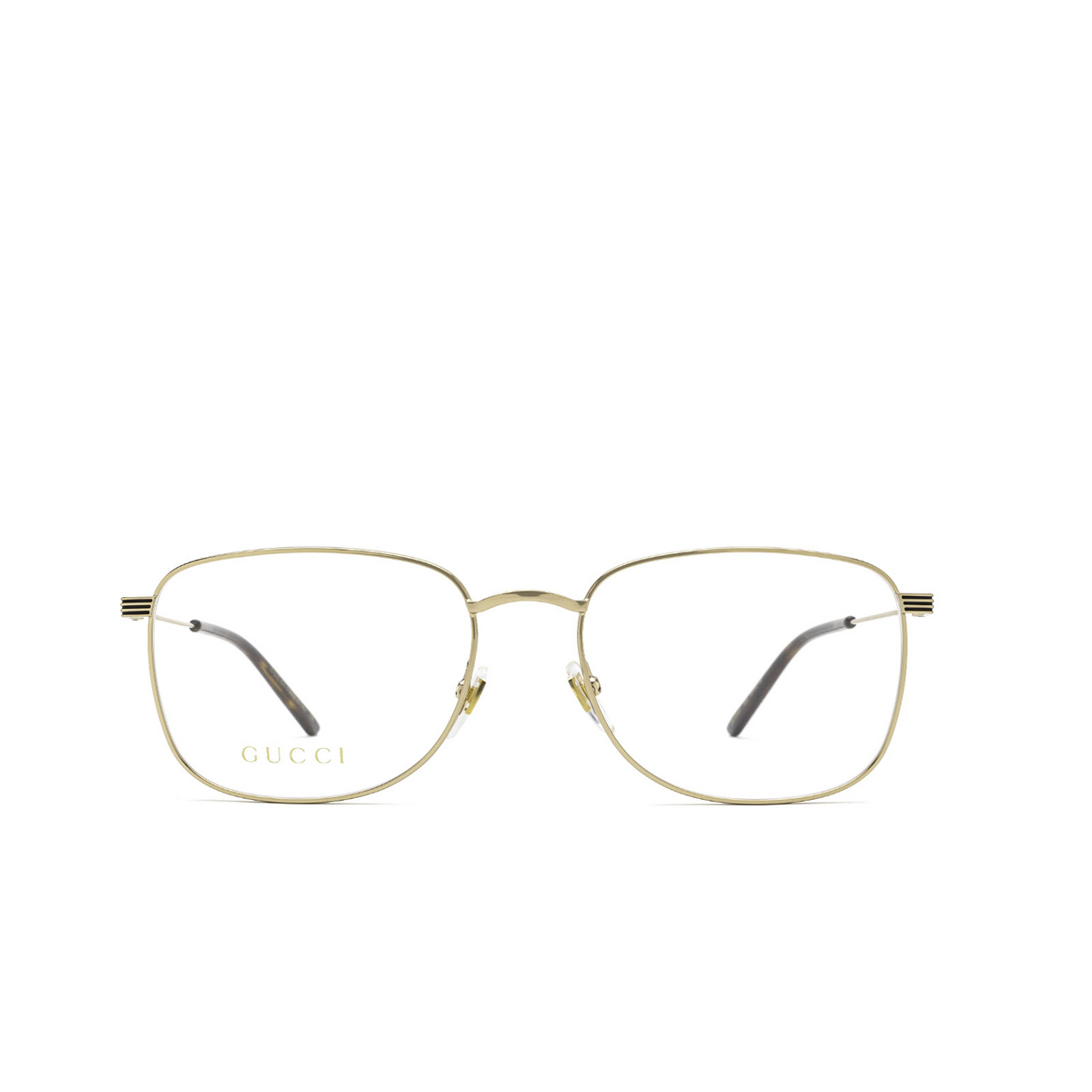 Gucci® Square Eyeglasses: GG1052O color Gold 004 - front view.