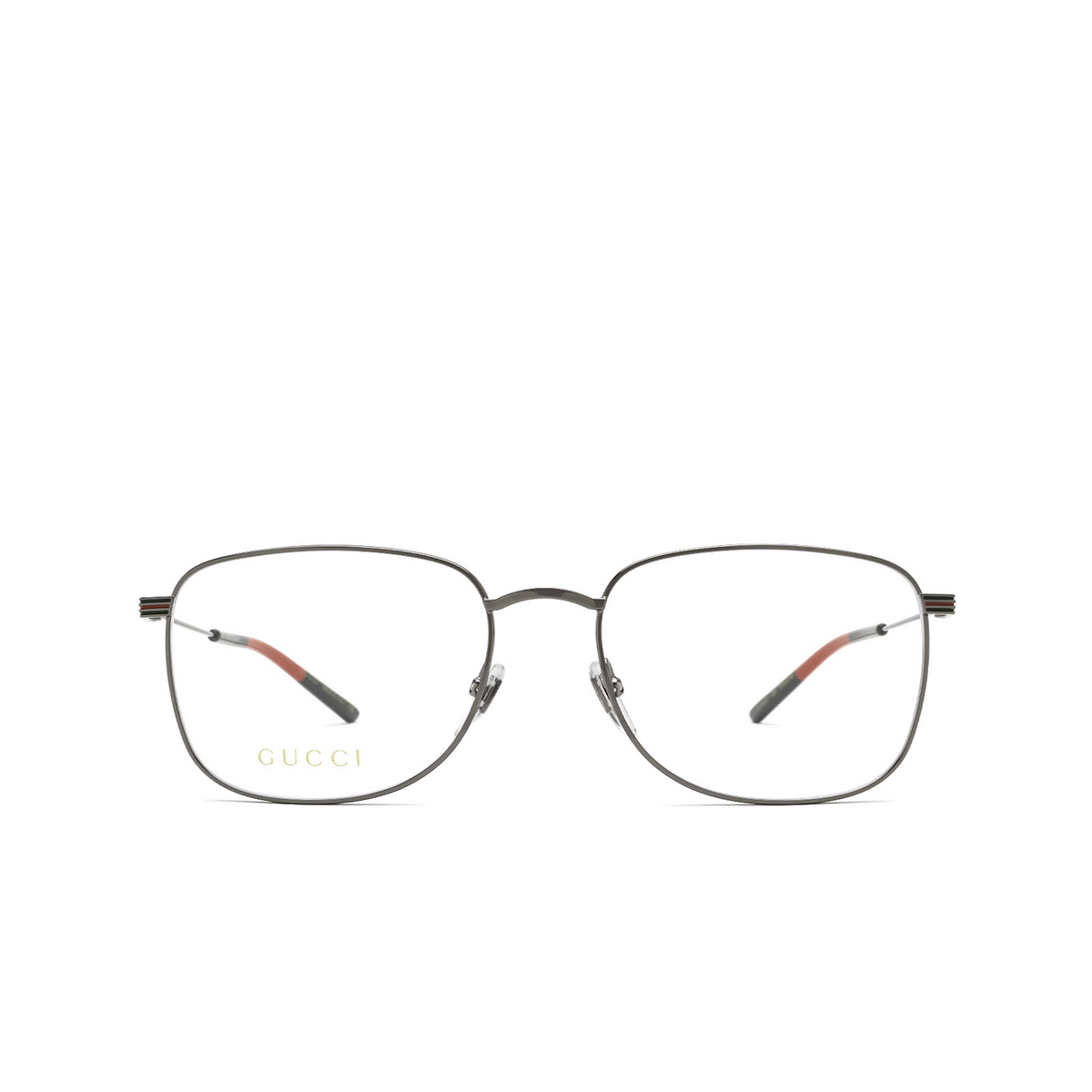 Gucci® Square Eyeglasses: GG1052O color Ruthenium 005 - front view.
