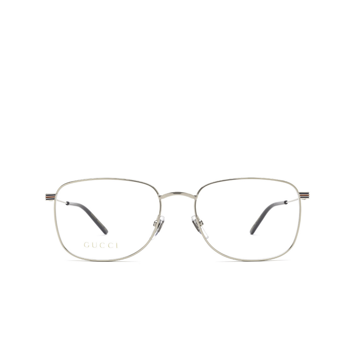Gucci® Square Eyeglasses: GG1052O color Silver 006 - front view.