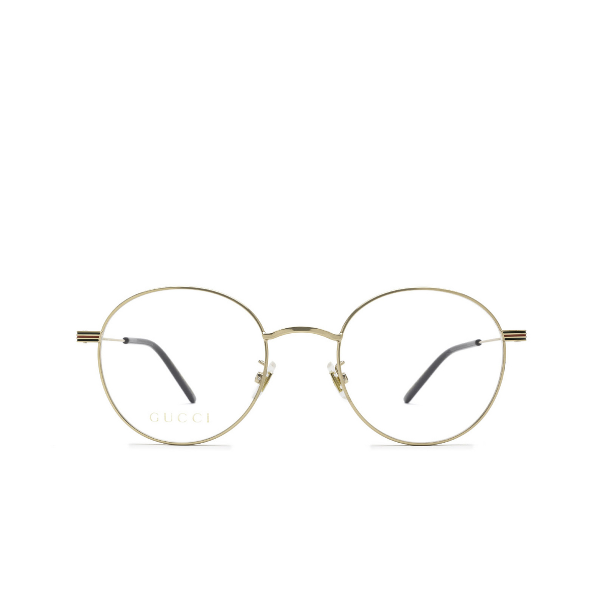 Gucci® Round Eyeglasses: GG1054OK color Gold 001 - front view.