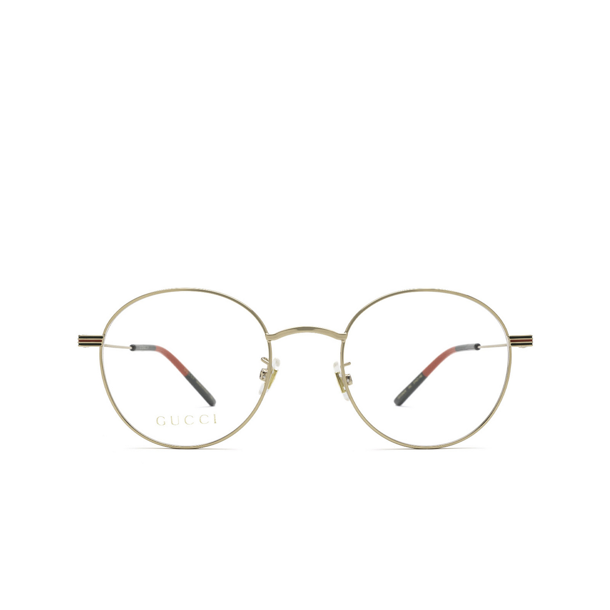 Gucci® Round Eyeglasses: GG1054OK color Gold 002 - front view.