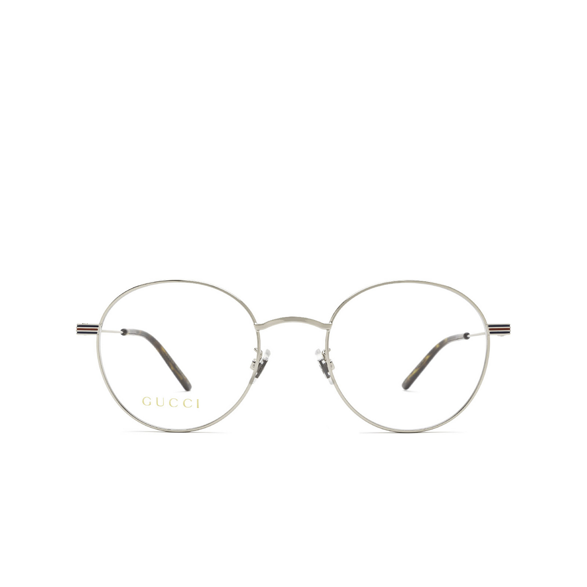 Gucci® Round Eyeglasses: GG1054OK color Silver 003 - front view.