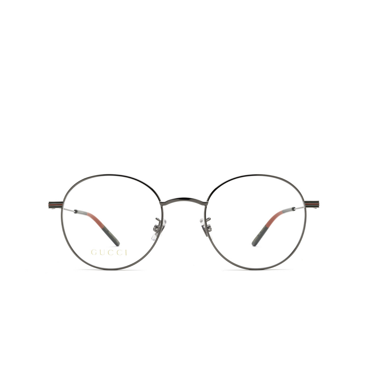 Gucci® Round Eyeglasses: GG1054OK color Ruthenium 004 - front view.