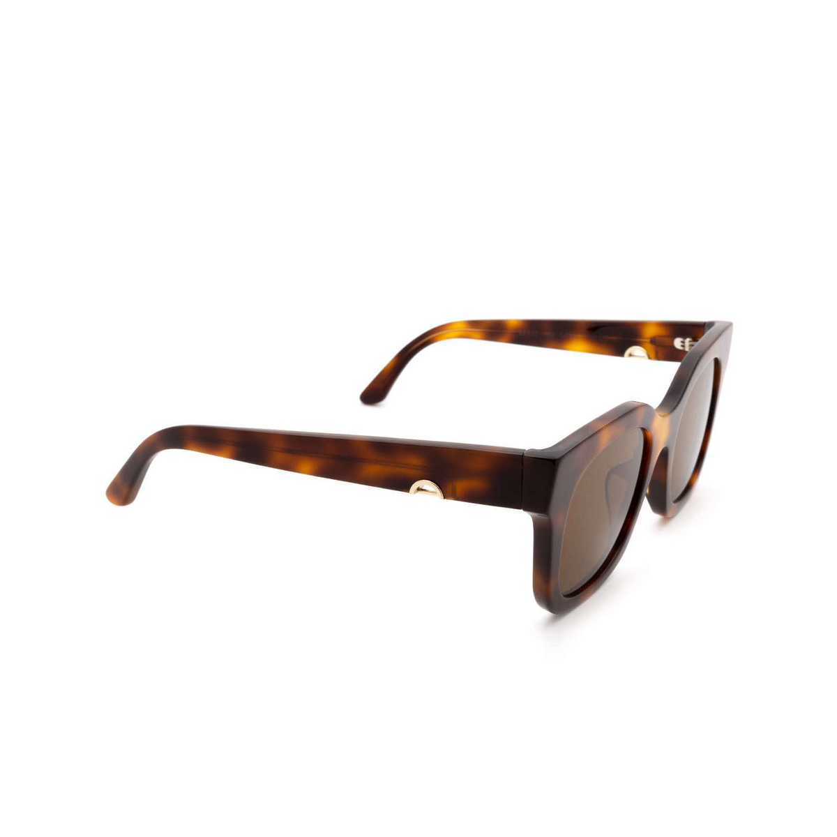 Huma® Square Sunglasses: Blue color Havana 00 - three-quarters view.