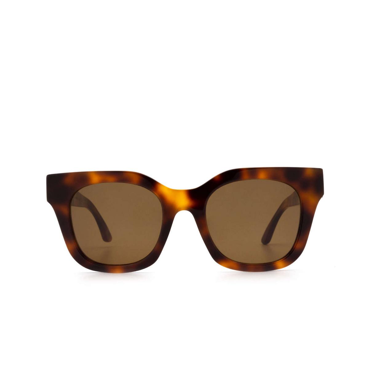 Huma® Square Sunglasses: Blue color Havana 00 - front view.