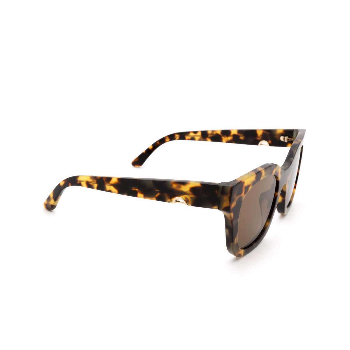 Huma® Square Sunglasses: Blue color Havana Leo 19 - three-quarters view.