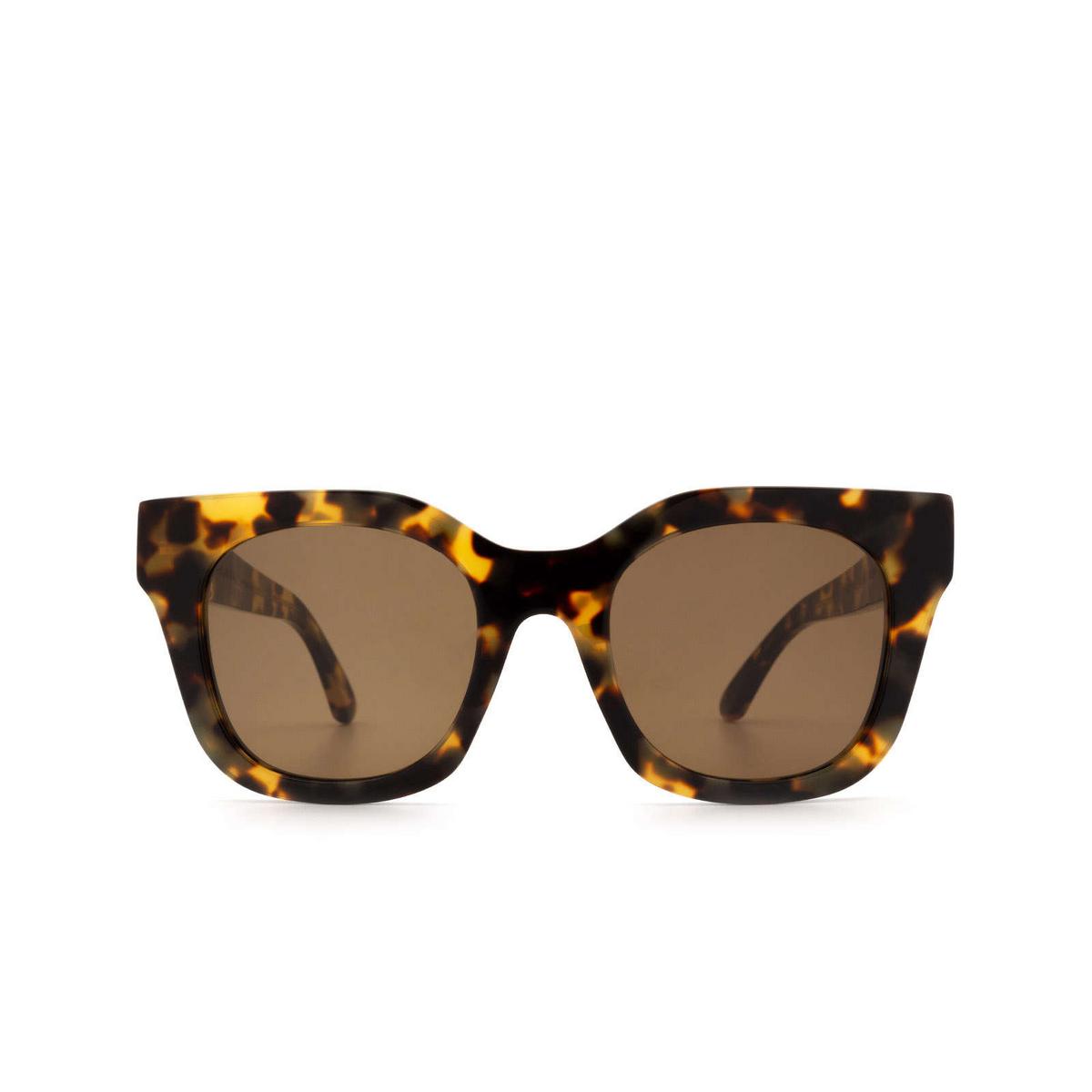 Huma® Square Sunglasses: Blue color Havana Leo 19 - front view.