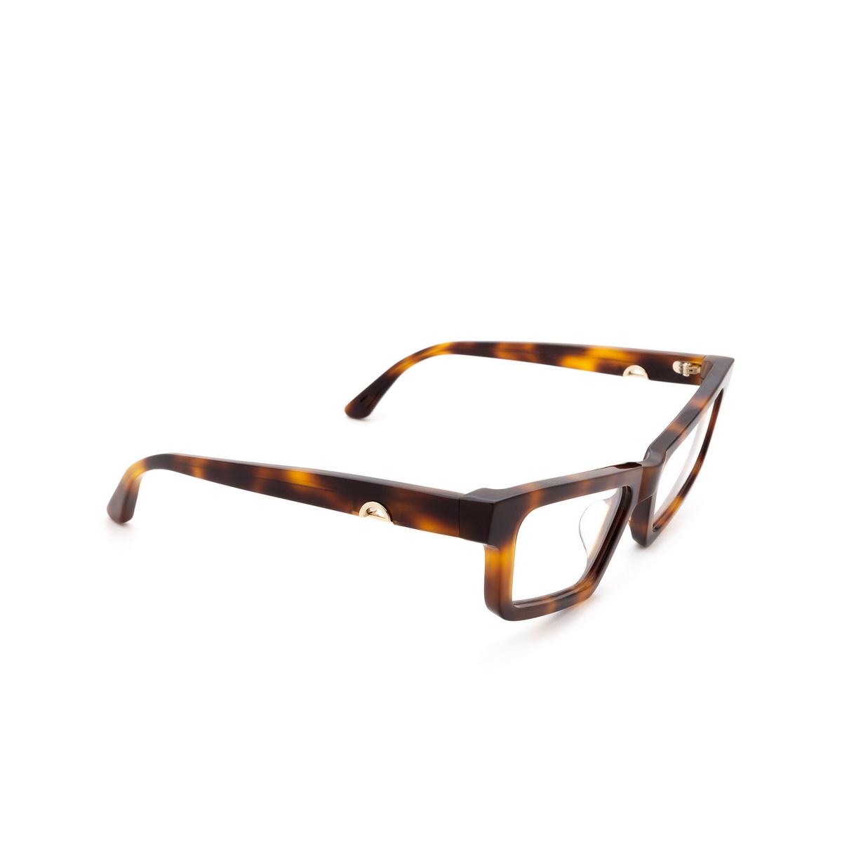 Huma® Cat-eye Eyeglasses: Dea color Havana 00V - three-quarters view.