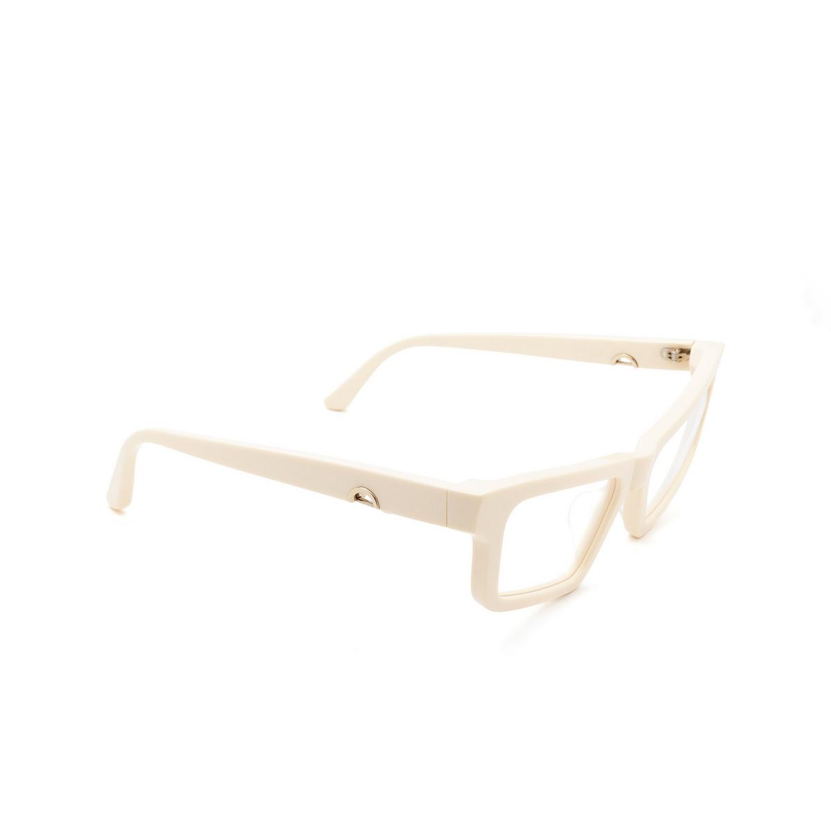 Huma® Cat-eye Eyeglasses: Dea color Ivory 07V - three-quarters view.