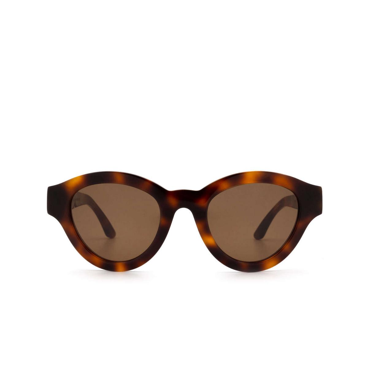 Huma® Cat-eye Sunglasses: Dug color Havana 00 - front view.