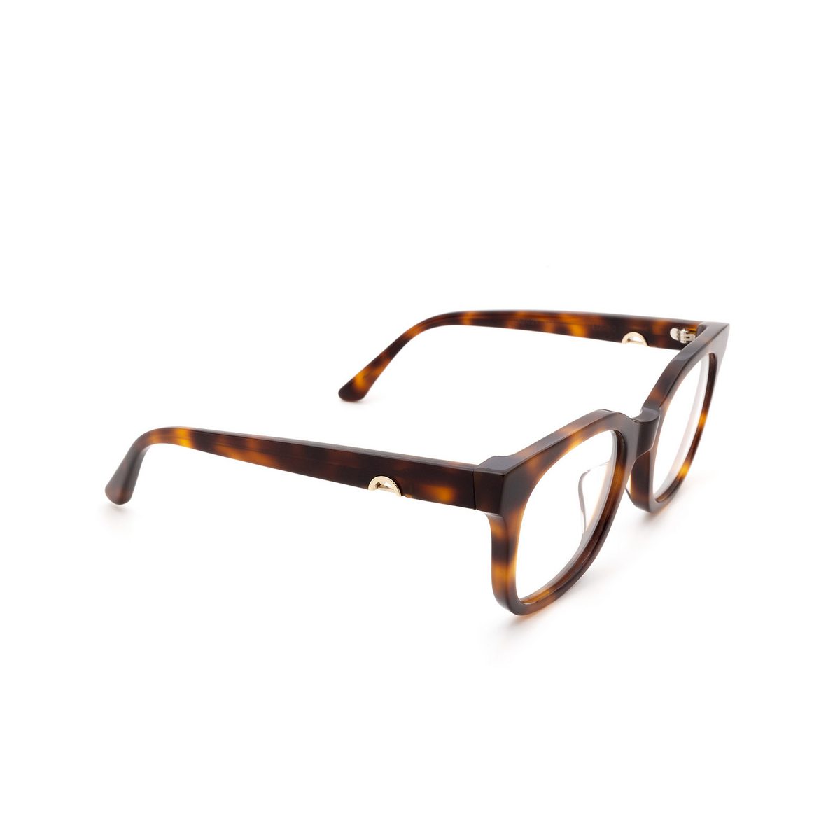 Huma® Square Eyeglasses: Liz color Havana 00V - three-quarters view.