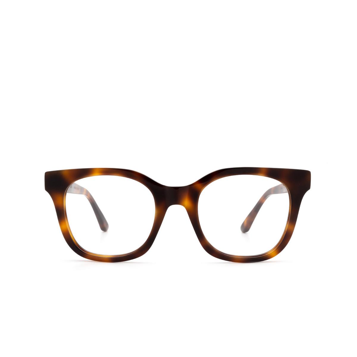 Huma® Square Eyeglasses: Liz color Havana 00V - front view.