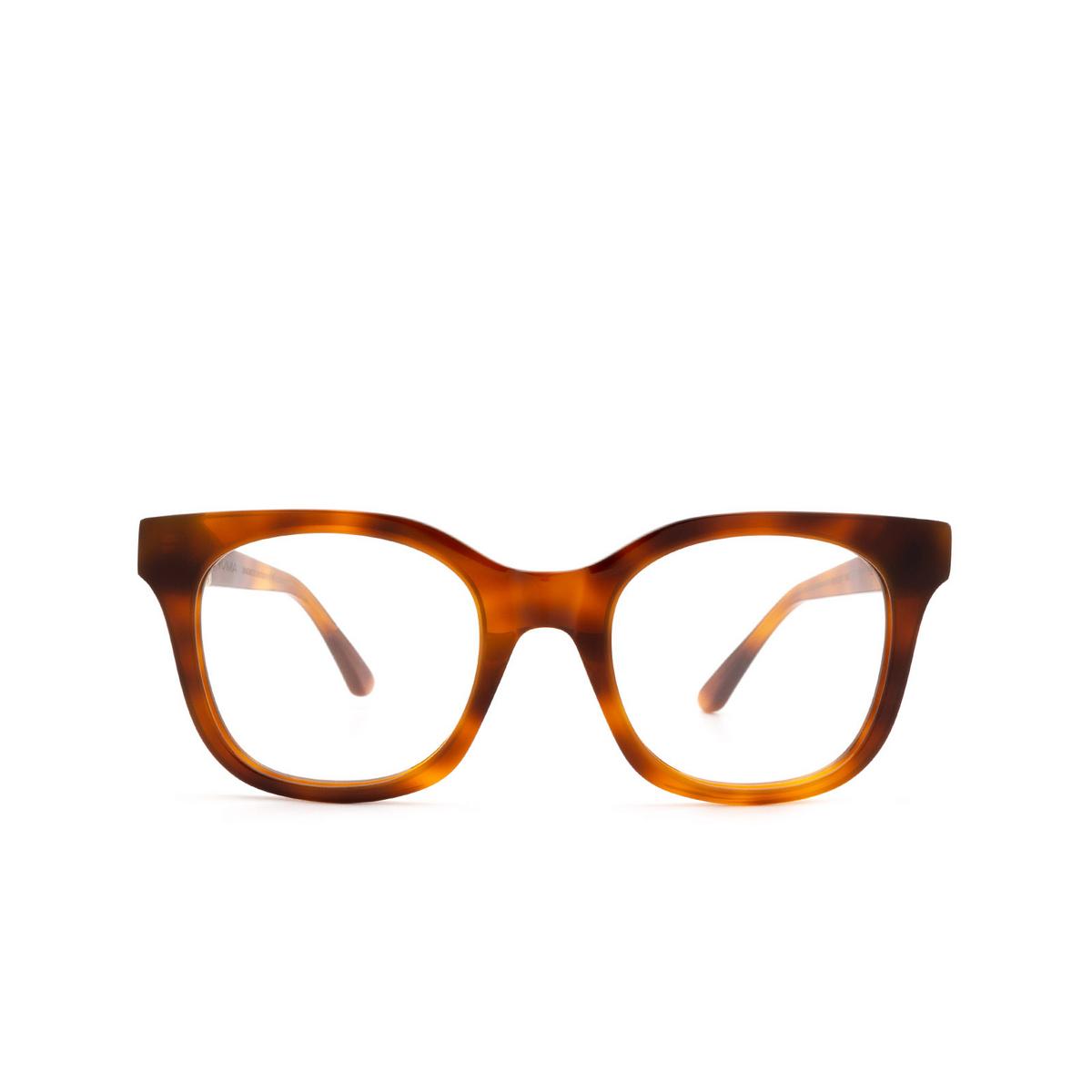 Huma® Square Eyeglasses: Liz color Light Havana 01V - front view.