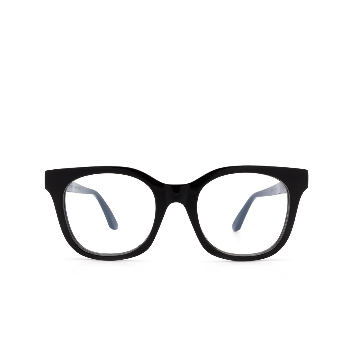 Huma® Square Eyeglasses: Liz color Black 06V - front view.
