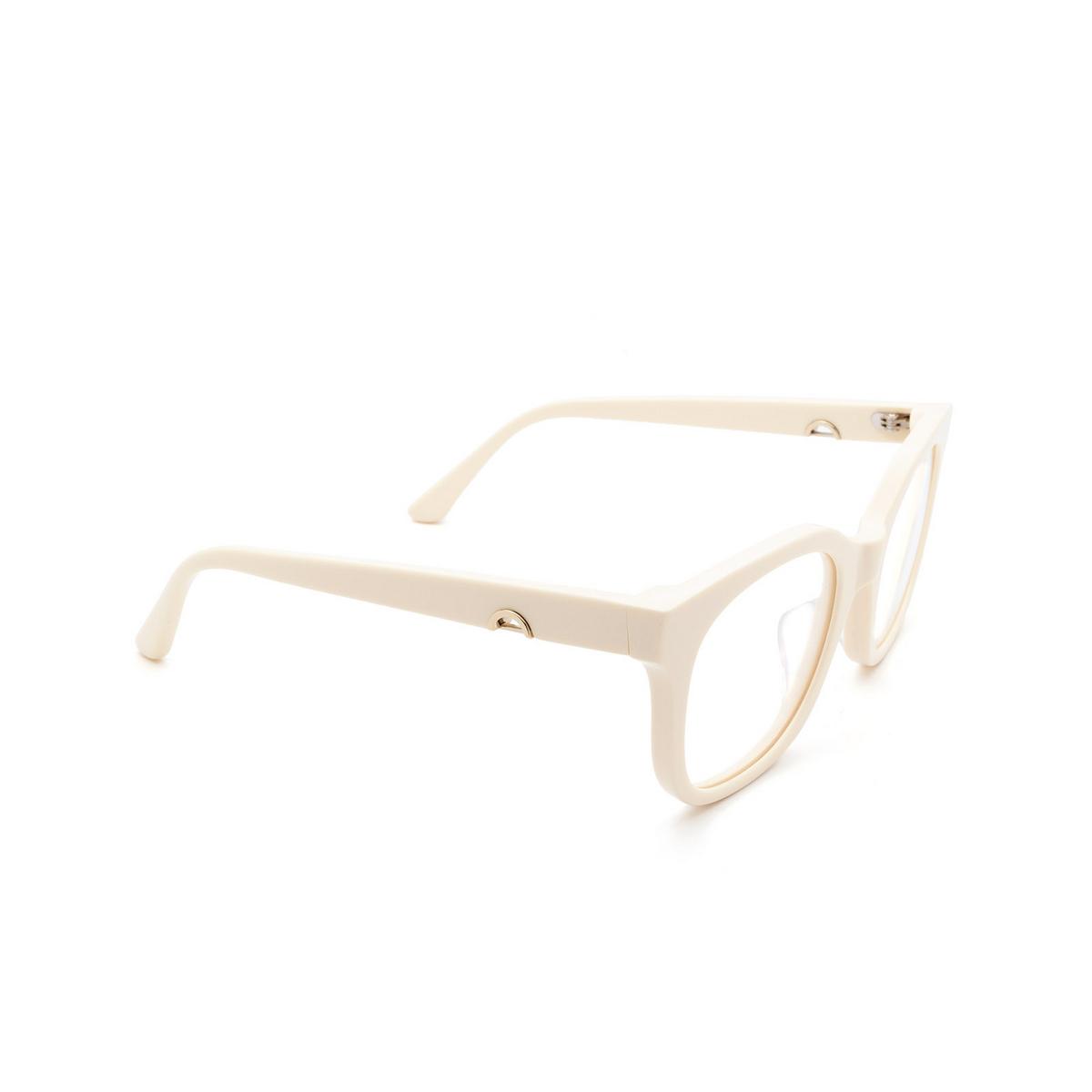 Huma® Square Eyeglasses: Liz color Ivory 07V - three-quarters view.