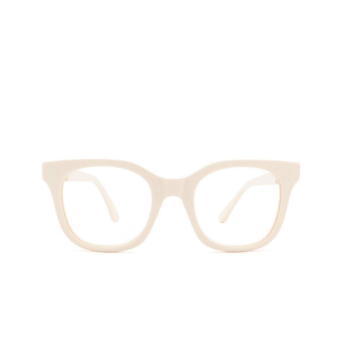 Huma® Square Eyeglasses: Liz color Ivory 07V - front view.