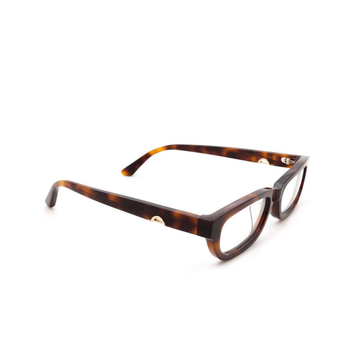 Huma® Rectangle Eyeglasses: Lou color Havana 00V - three-quarters view.