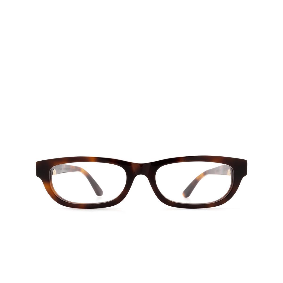 Huma® Rectangle Eyeglasses: Lou color Havana 00V - front view.