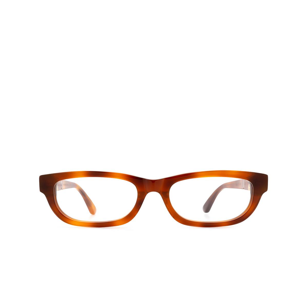 Huma® Rectangle Eyeglasses: Lou color Light Havana 01V - front view.