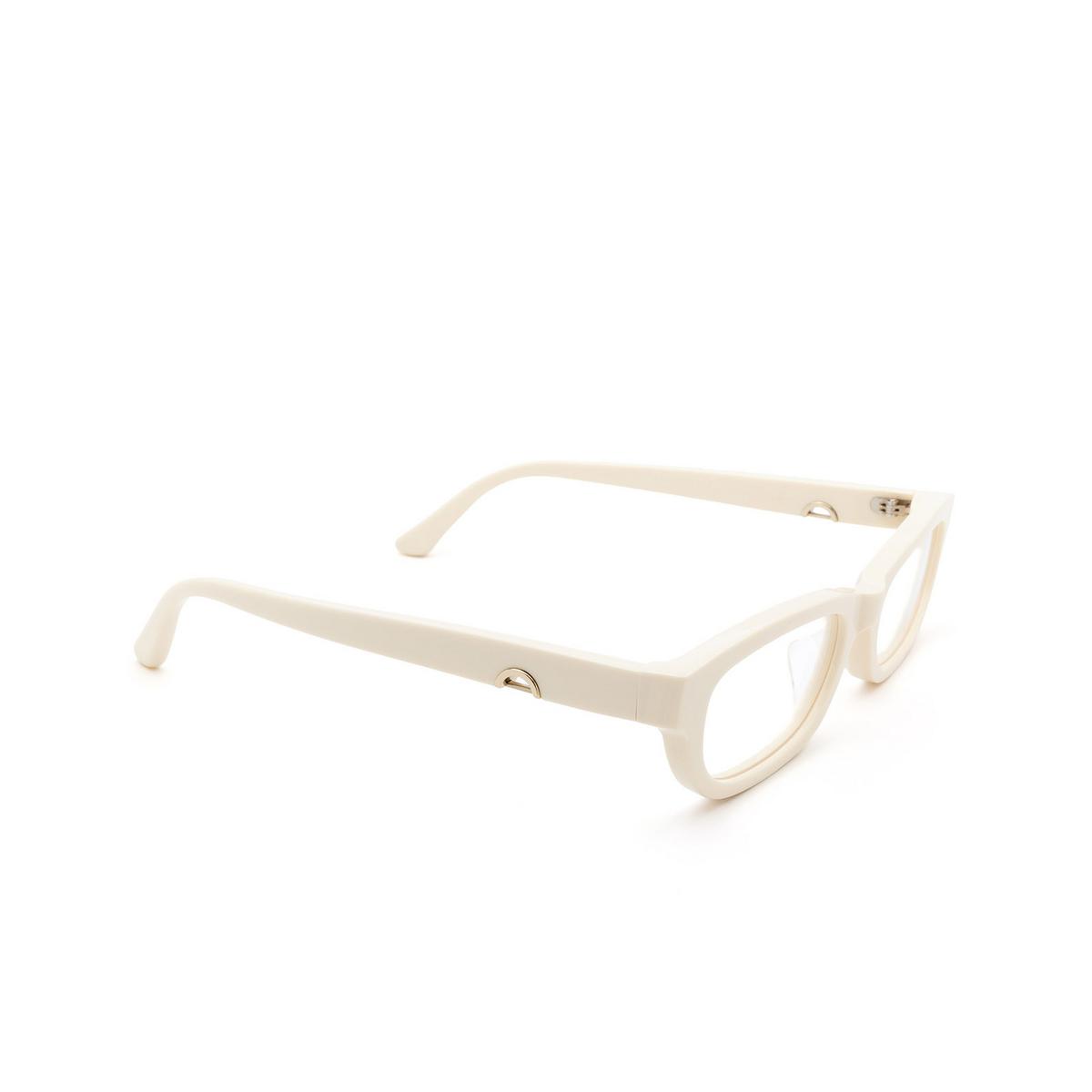 Huma® Rectangle Eyeglasses: Lou color Ivory 07V - three-quarters view.