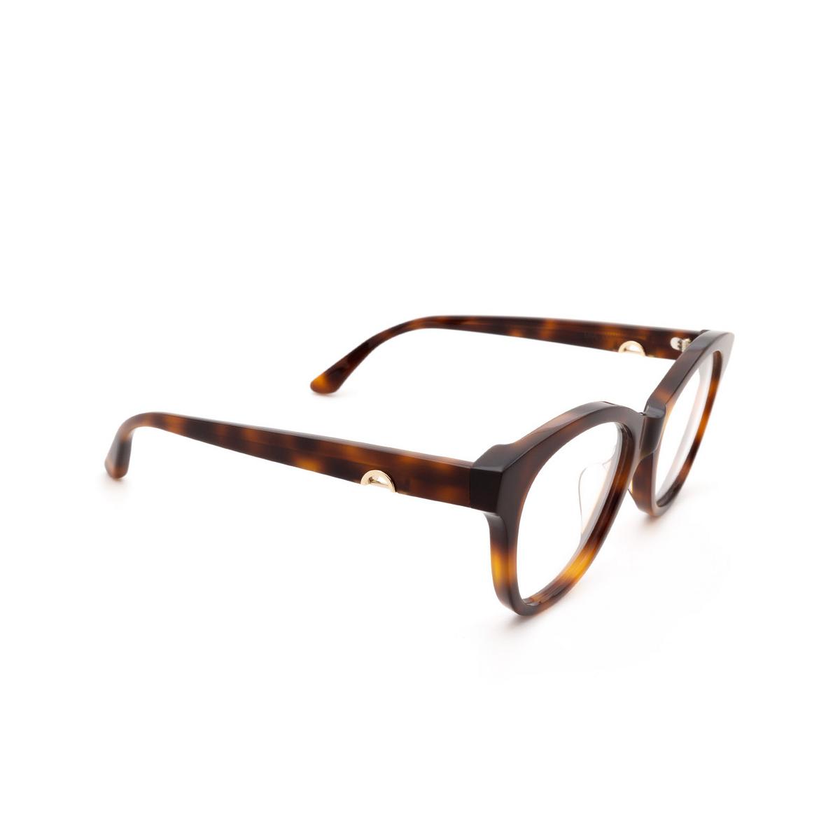 Huma® Cat-eye Eyeglasses: Mia color Havana 00V - three-quarters view.