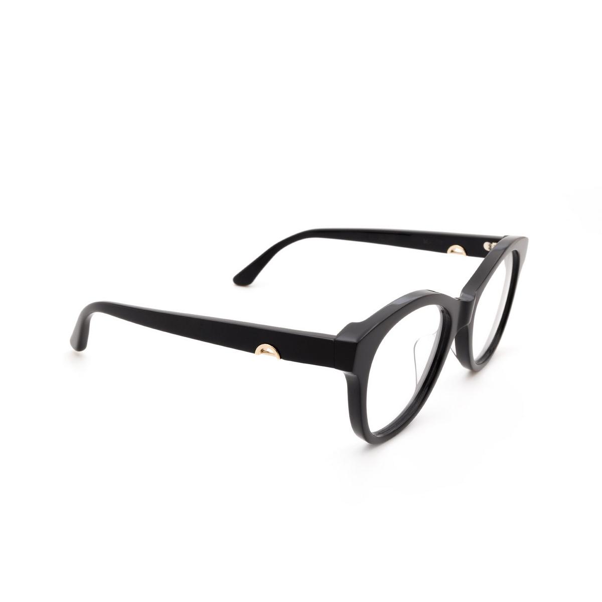 Huma® Cat-eye Eyeglasses: Mia color Black 06V - three-quarters view.
