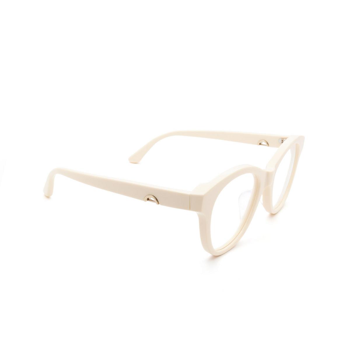 Huma® Cat-eye Eyeglasses: Mia color Ivory 07V - three-quarters view.