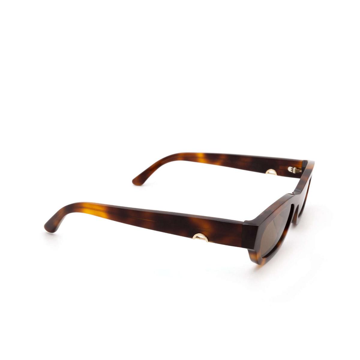 Huma® Rectangle Sunglasses: Tojo color Havana 00 - three-quarters view.
