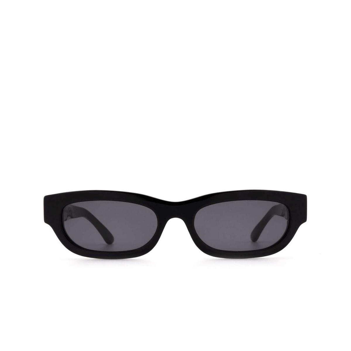 Huma® Rectangle Sunglasses: Tojo color Black 06 - front view.