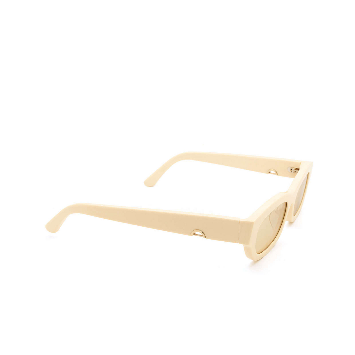 Huma® Rectangle Sunglasses: Tojo color Ivory 07 - three-quarters view.