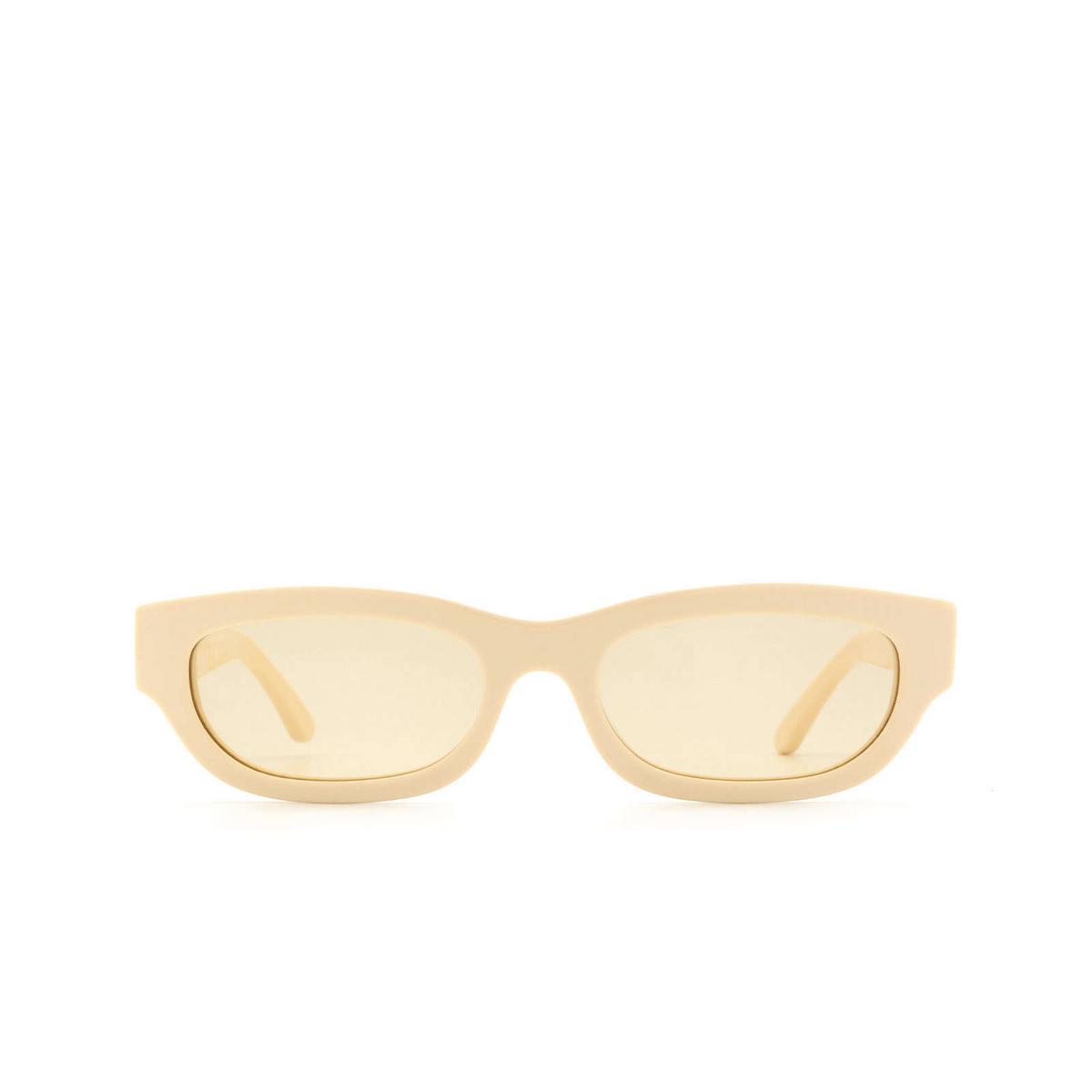 Huma® Rectangle Sunglasses: Tojo color Ivory 07 - front view.