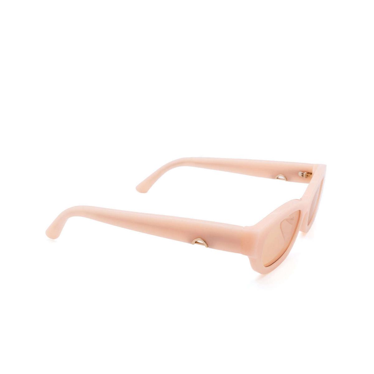 Huma® Rectangle Sunglasses: Tojo color Pink 11 - three-quarters view.