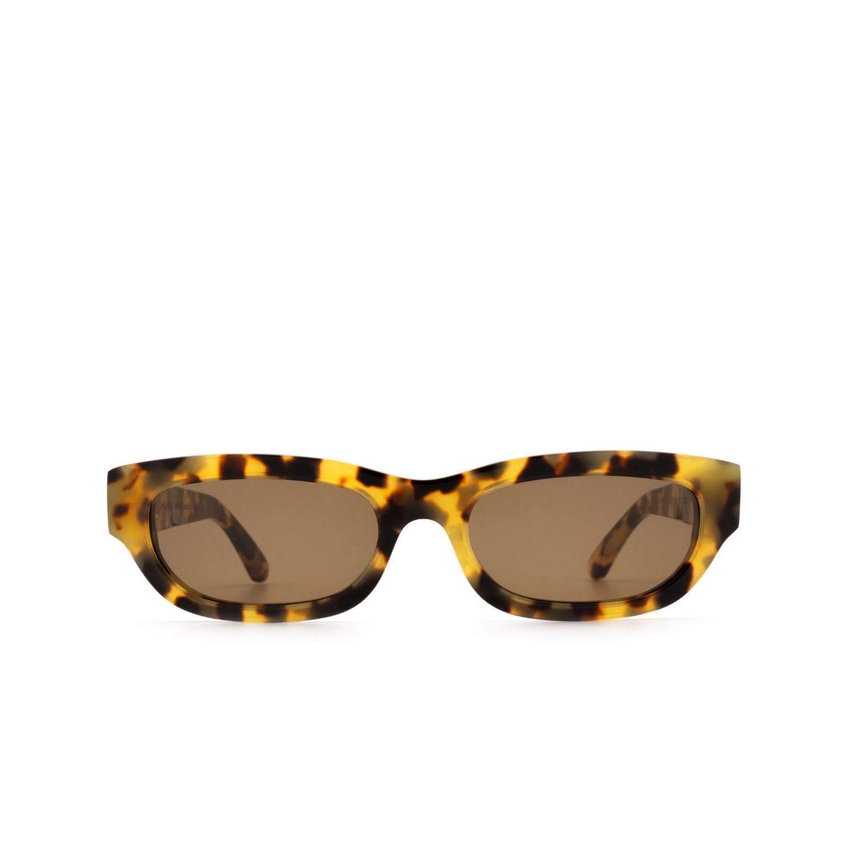 Huma® Rectangle Sunglasses: Tojo color Havana Leo 19 - front view.