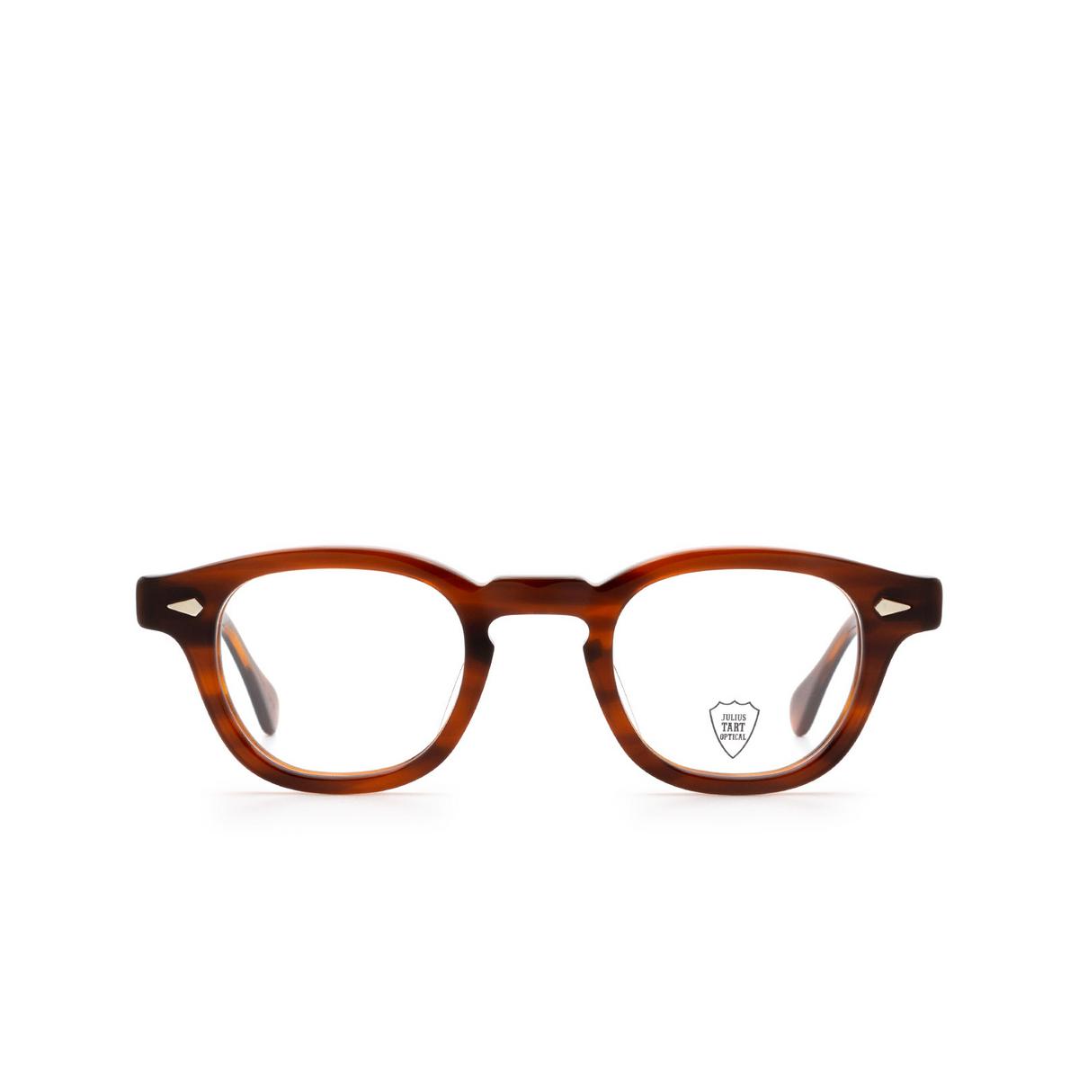 Julius Tart Optical® Square Eyeglasses: Ar color Amber.