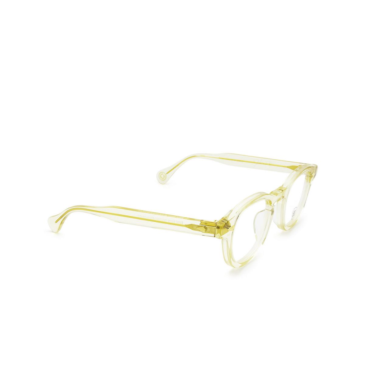 Julius Tart Optical® Square Eyeglasses: Ar color Champagne (gold) - three-quarters view.