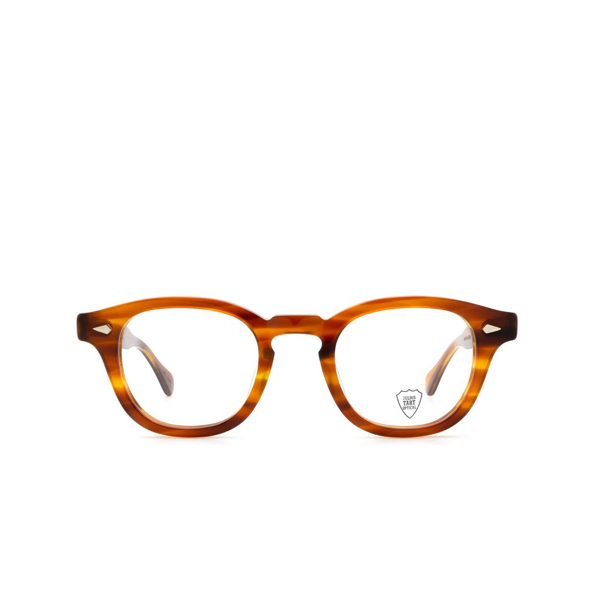 Julius Tart Optical® Square Eyeglasses: Ar color Demi Amber.