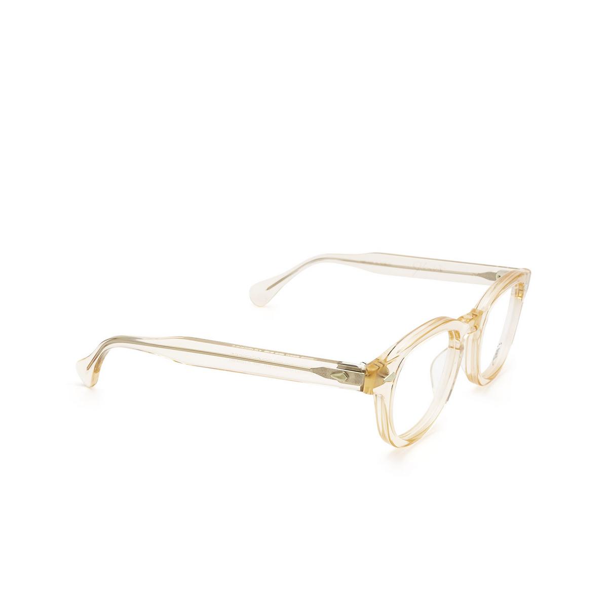 Julius Tart Optical® Square Eyeglasses: Ar color Flesh Pink - three-quarters view.