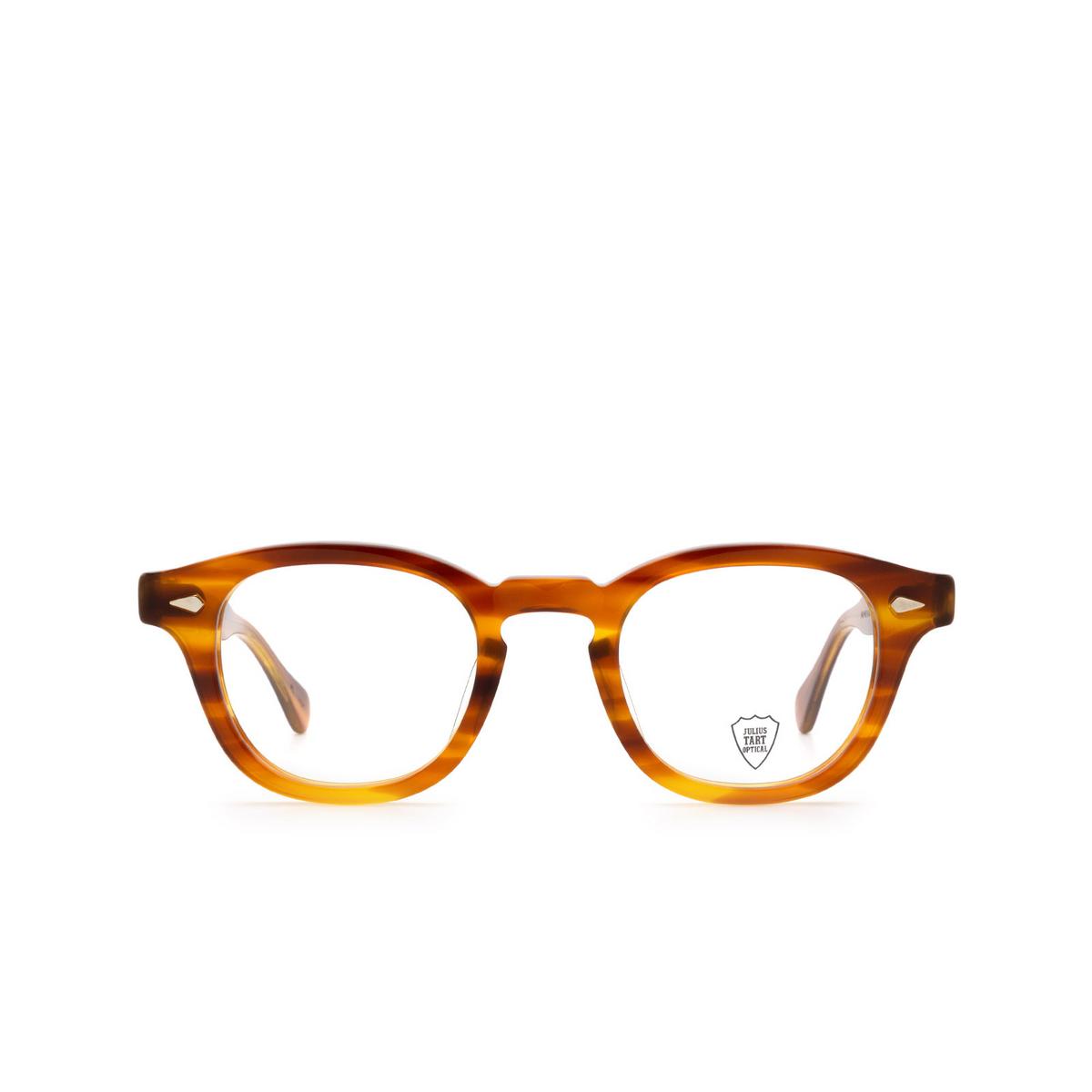 Julius Tart Optical® Square Eyeglasses: Ar color Light Brown Sasa.