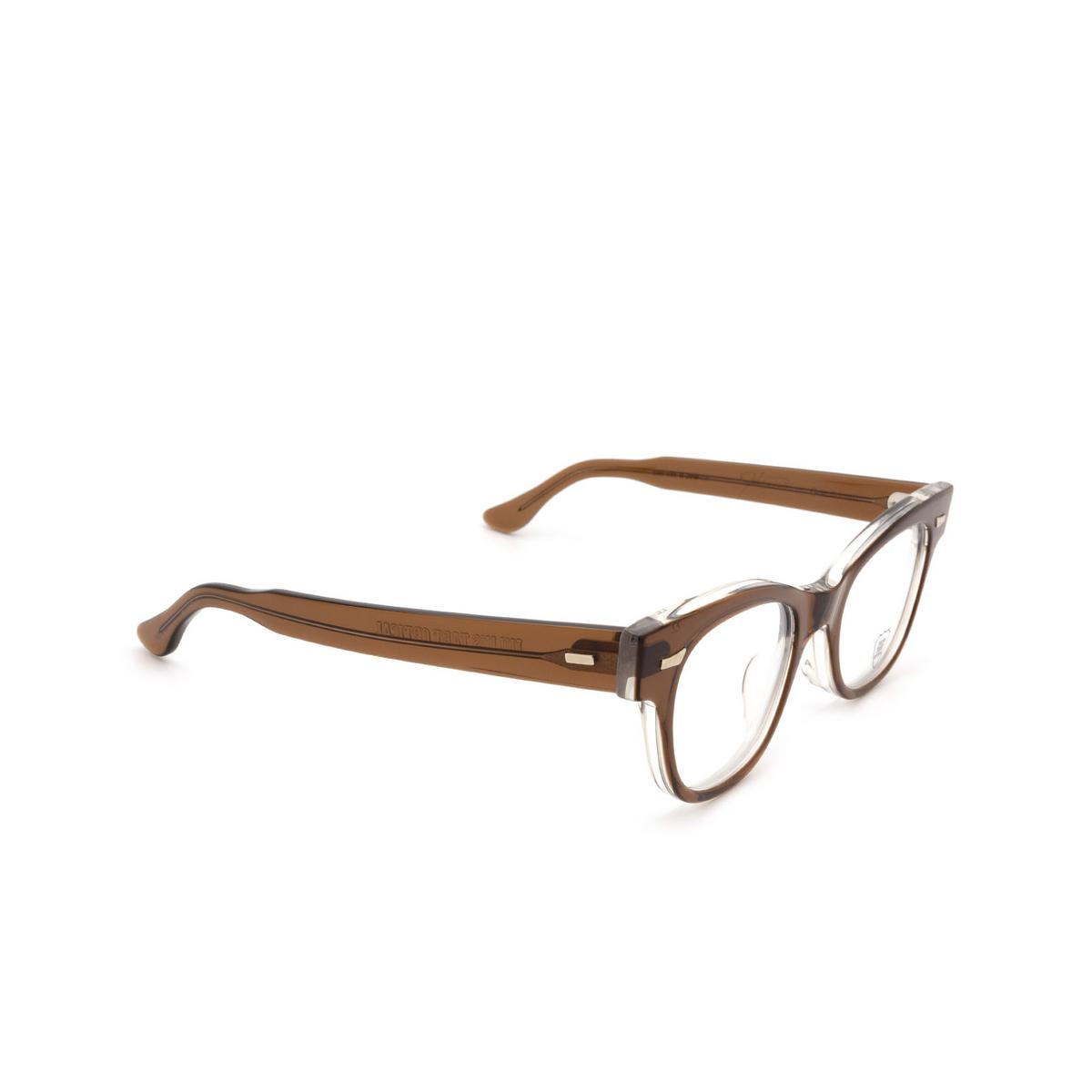 Julius Tart Optical® Cat-eye Eyeglasses: Countdown color Brown Crystal Ii.